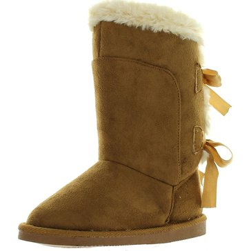 Triple T Northside Tia Girl's Suede Boot-Tan