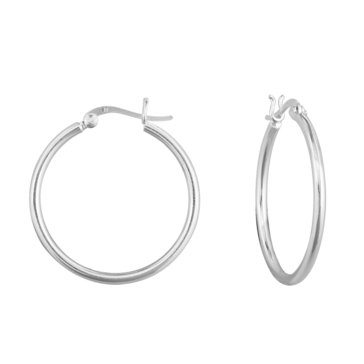 Sterling Silver Polished Hoop Earrings
