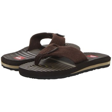 Quiksilver Boys Carver Suede Youth Sandal Demitasse (Toddler/Little Kid/Youth)