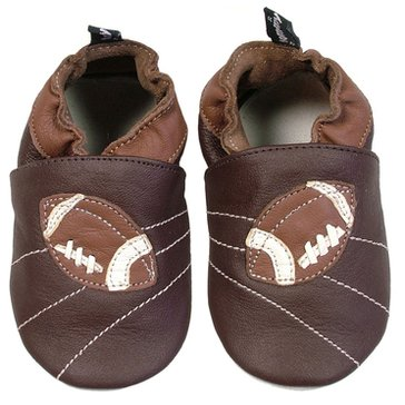 Tommy Tickle Football Crib Shoes, Large