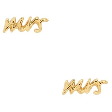 Kate Spade Gold Tone Say Yes Mrs. Studs