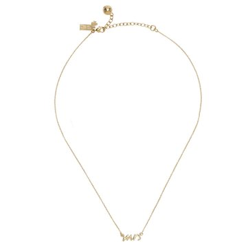 Kate Spade Gold Tone Say Yes Mrs. Necklace