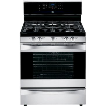 Kenmore Elite 5.5-Cu.Ft. Dual-Fuel Range, Stainless Steel (22-75353)