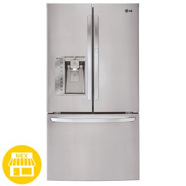LG 29-Cu.Ft. Door in Door, French Door Refrigerator, Stainless Steel (LFXS29766S)