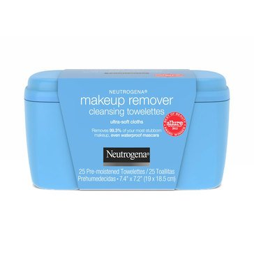 Neutrogena Vanity Makeup Remover Cleansing Towelettes, 25ct