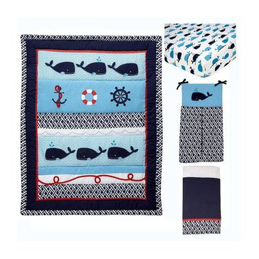 Nautica Whale of a Tale 4-piece Crib Set