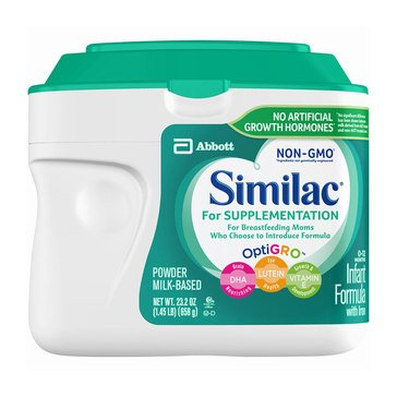 Similac For Supplementation Infant Formula Powder, 1.45lb