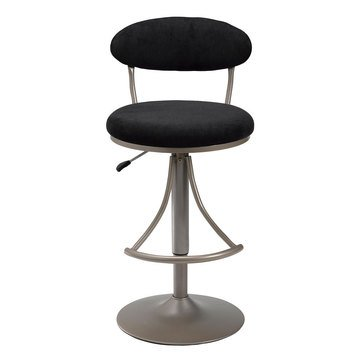 Venus Adjustable Swivel Black Bar Stool