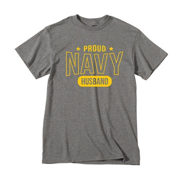 MV Sport Men's USN Proud Navy Husband Tee