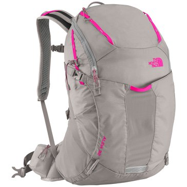 The North Face Aleia 32 Backpack - X/S - Q-Silver Grey/Glo Pink