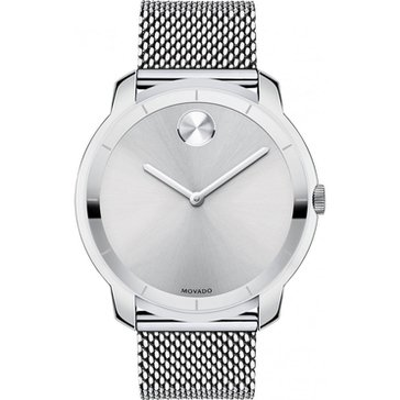 Movado Men's Bold Thin Mesh Bracelet Watch, 44mm