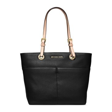 Michael Kors Bedford Top Zip Pocket Tote Black