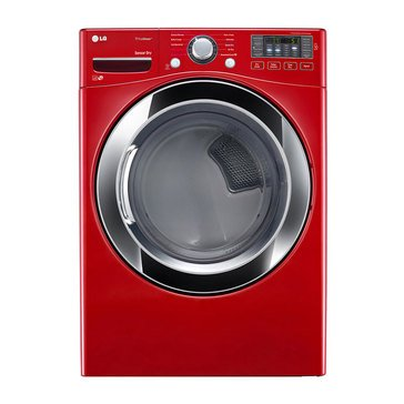 LG 7.4-Cu.Ft. Electric Steam Dryer, Red (DLEX3370R)