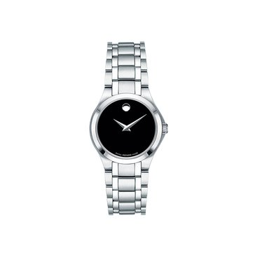 Movado Women's Black Museum Dial Stainless Steel Watch, 28mm