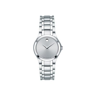 Movado Women's White Museum Dial Stainless Steel Watch 28mm