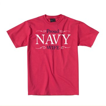 MV Sport Women's USN Proud Navy Wife Tee