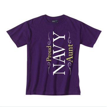 MV Sport Women's USN Proud Navy Aunt Tee