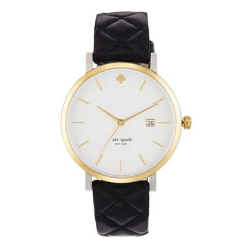 Kate Spade Women's Metro Grand Quilted Watch, 38mm