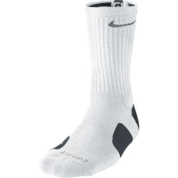 Nike Elite Basketball Crew Sock- White/Black- Size M