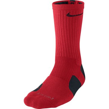 Nike Elite Basketball Crew Sock - UniversityRed/Black- Size M
