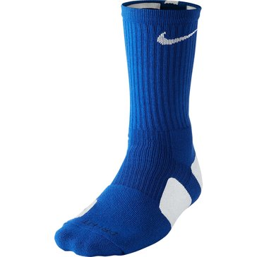 Nike Elite Basketball Crew Sock - Royal/White -Size  M
