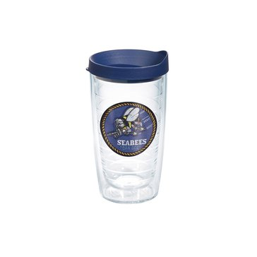Tervis Tumbler USN Seabees Patch 16 Oz Tumbler With Navy Lid