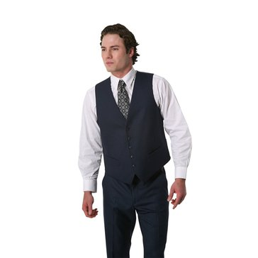 Perry Ellis Men's Blue Sharkskin Vest