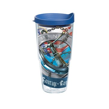 Tervis Tumbler USN Honor Courage Commitment Anchor 24 Oz Tumbler