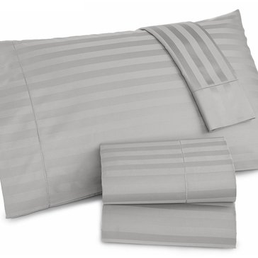 Charter Club Damask Stripe 500 Thread-Count Sheet Set, Dove - Queen