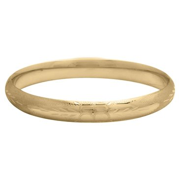 14K 5/16 Engraved Hinged Bangle