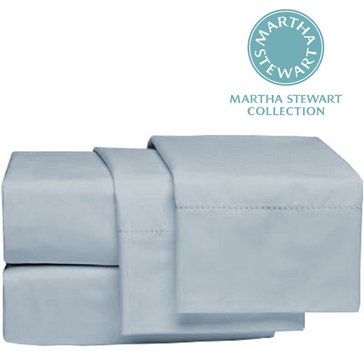Martha Stewart Collection 300 Thread-Count Sheet Set, Blue Grey - King