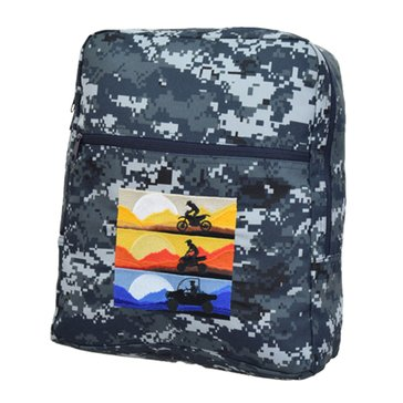 Flying Circle Children's USN Digital Embroidered Backpack Large