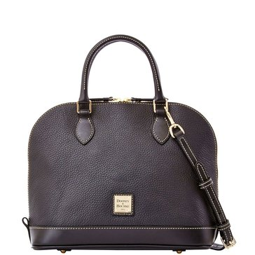 Dooney & Bourke Pebble Zip Zip Satchel Black
