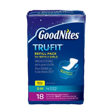 GoodNites Tru-Fit Underwear Disposable Inserts - Size S/M, 18-Count
