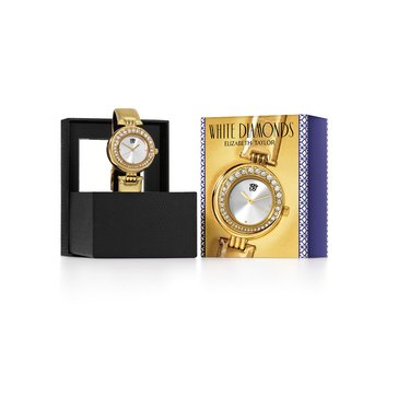 Free White Diamond Women's Watch with any Elizabeth Taylor Fragrance Purchase