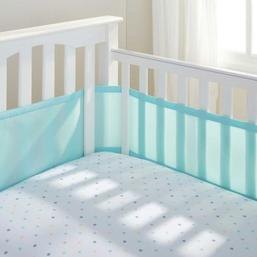 Breathable Baby Breathable Mesh Crib Liner, Aqua Mist