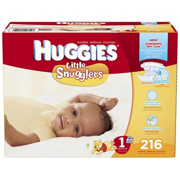 Huggies Little Snugglers - Size 1, Economy Plus 216-Count