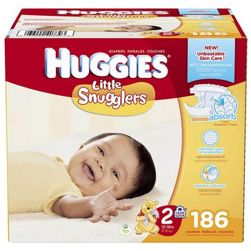Huggies Little Snugglers - Size 2, Economy Plus 186-Count