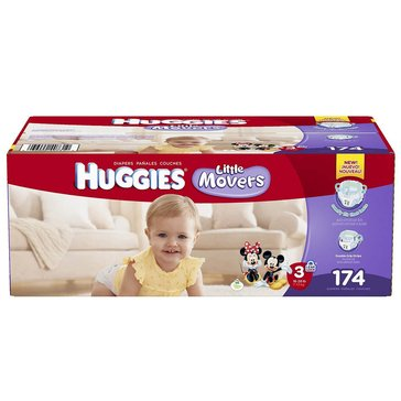 Huggies Little Movers - Size 3, Economy Plus 174-Count