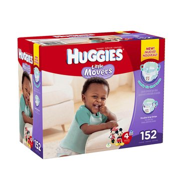 Huggies Little Movers - Size 4, Economy Plus 152-Count