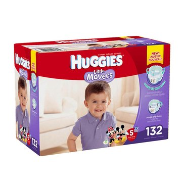 Huggies Little Movers - Size 5, Economy Plus 132-Count