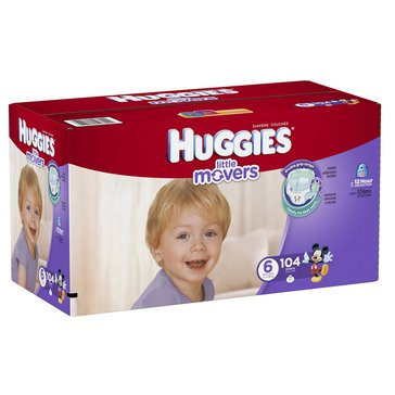 Huggies Little Snugglers - Size 6, Economy Plus 104-Count