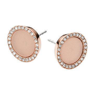 Michael Kors Rose Gold Tone Blush Acetate Studs
