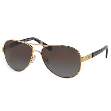 Tory Bruch Women's Aviator Polarized Sunglasses 57mm