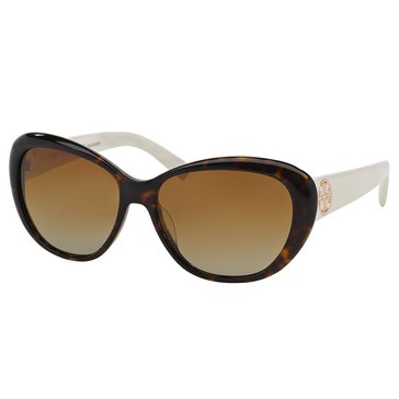 Tory Burch Women's Cat Eye Ivory Sunglasses 56mm