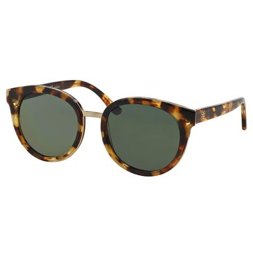 Tory Burch Women's Phantos Polarized Tort Green Sunglasses 53mm