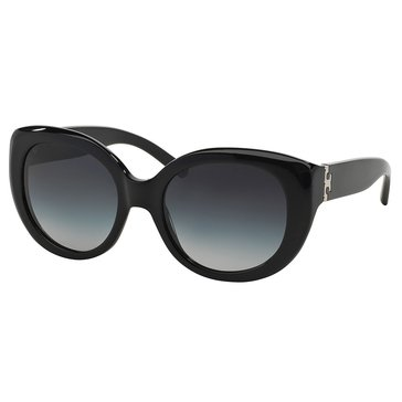 Tory Burch Women's Cat Eye Black Gray Sunglasses 54mm