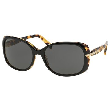 Prada Women's Timeless Conceptual Black Gray Sunglasses 57mm