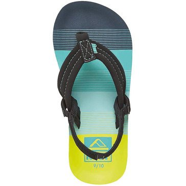 Reef Ahi Boys' Thong Sandal Aqua Green