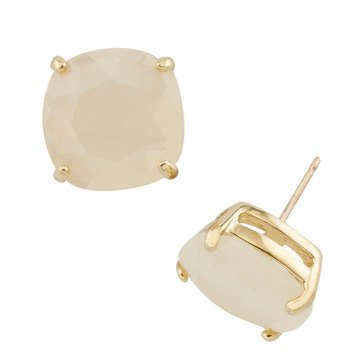 Kate Spade Gold Tone Small Square Light Pink Studs